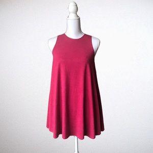 Socialite Red Sleeveless High Neck Tunic Sz XS
